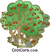 Vector Clip Art graphic  of an Apple harvest