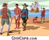 start of the slave trade Vector Clipart picture