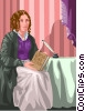 Vector Clip Art image  of a Harriet Beecher Stowe