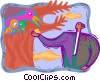 Vector Clipart image  of a managing environmental