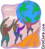 managing environmental concerns Vector Clip Art image
