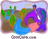 managing environmental concerns Vector Clipart picture