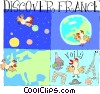 Vector Clipart graphic  of a France