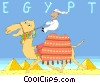 Vector Clip Art image  of a Egypt postcard design