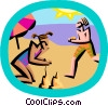 day at the beach Vector Clipart illustration