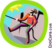 Vector Clip Art picture  of a rock climbing