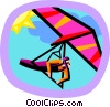hang gliding Vector Clip Art graphic