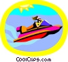 Vector Clip Art image  of a water sports