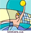 sports, water polo Vector Clipart illustration