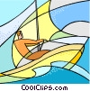 Vector Clipart picture  of a water sports
