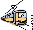 transportation, Streetcar Vector Clipart illustration