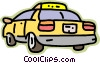 transportation, taxi Vector Clipart illustration