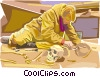Vector Clipart graphic  of an archeologist