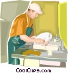 dish washer Vector Clipart graphic