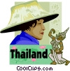 Thailand postcard design Vector Clipart picture