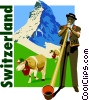 Vector Clipart graphic  of a Switzerland