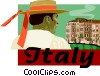 Italy Vector Clip Art graphic