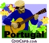 Vector Clip Art graphic  of a Portugal