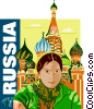 Vector Clip Art graphic  of a Russia