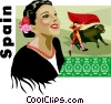 Spain postcard design Vector Clipart graphic