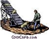 Vector Clipart picture  of a conveyor belt