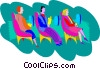 Vector Clip Art image  of an airline travelers