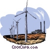 windmills Vector Clipart graphic