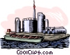 Vector Clip Art image  of a oil refinery