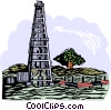 Vector Clip Art graphic  of a oil well