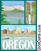 Vector Clipart graphic  of a State of Oregon