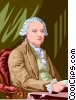 Vector Clip Art graphic  of a John Adams