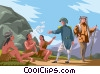 Vector Clip Art graphic  of a Lewis and Clark