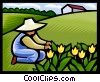 Vector Clipart picture  of a gardening