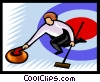 winter sports, curling Vector Clipart graphic