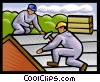 Vector Clip Art image  of a roofers