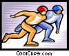 Vector Clipart illustration  of a speed skating