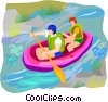 water sports, rafting Vector Clip Art image