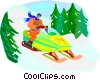 Vector Clipart graphic  of a winter sports
