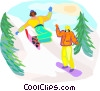 winter sports, snowboarding Vector Clip Art graphic