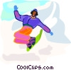 winter sports, snowboarding Vector Clipart illustration