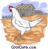 Vector Clipart graphic  of a Chicken farm