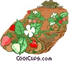 strawberry farming Vector Clipart image