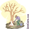 tree maintenance and repair Vector Clip Art picture