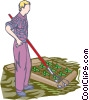 Vector Clipart illustration  of a gardening