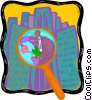 Vector Clipart graphic  of a managing environmental
