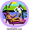 Vector Clipart graphic  of a summer vacation
