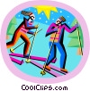 Vector Clip Art graphic  of a winter sports