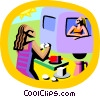 summer vacation, camping Vector Clipart image