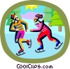 Vector Clip Art image  of a winter sports