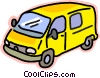 transportation, van Vector Clipart graphic